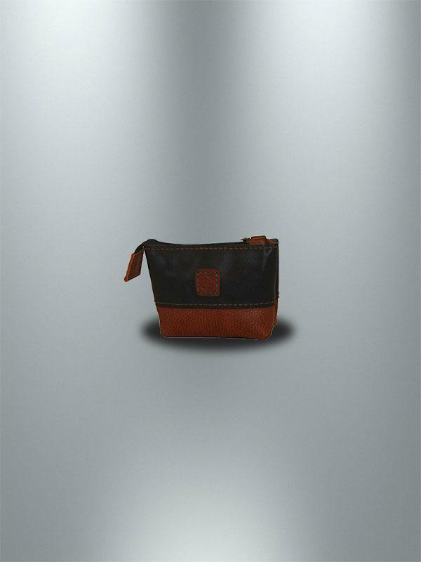 کیف آرایش دست دوز زنانه دو رنگ مدل A0-9601