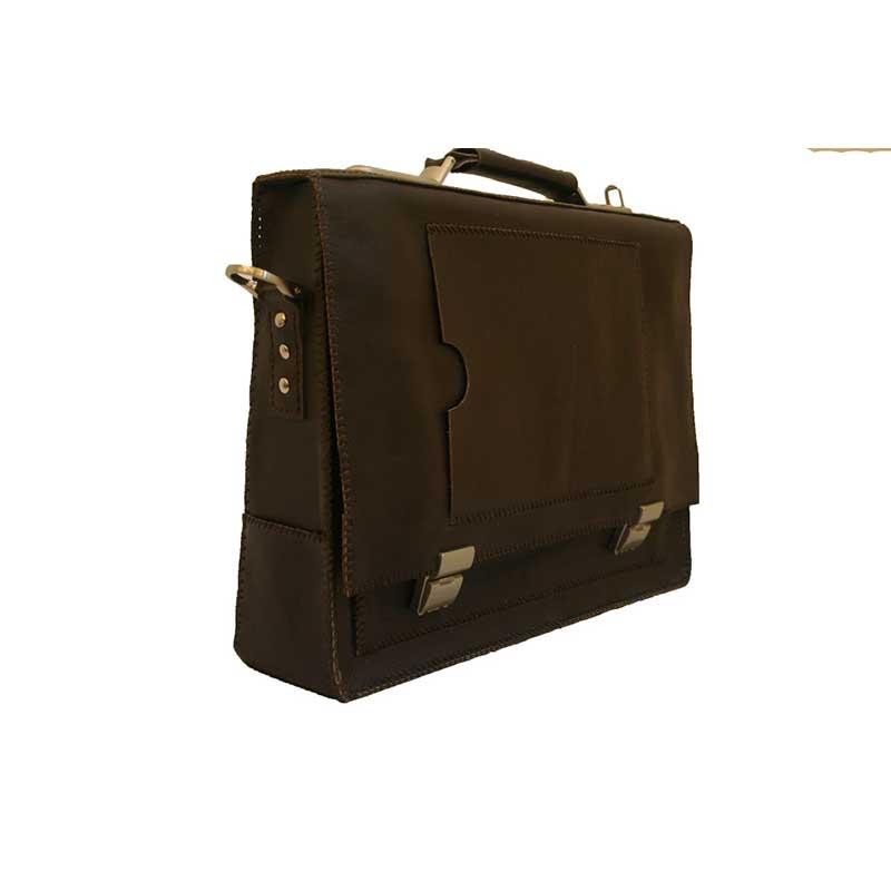 کیف دیپلمات مردانه چرمی دست دوز مدل DT1-9602