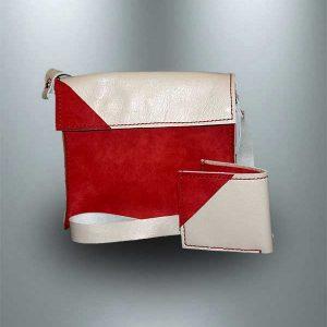 کیف دوشی دست دوز چرمی مدل D0-9702