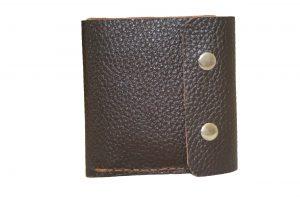 کیف پول چرمی دست دوز مردانه قهوه ای مدل P1-9601