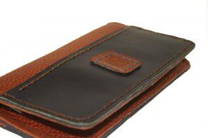 کیف پول چرمی دست دوز زنانه دو رنگ مدل P0-9601