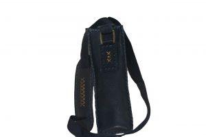 کیف دوشی چرمی دست دوز زنانه سرمه ای مدل D0-9604