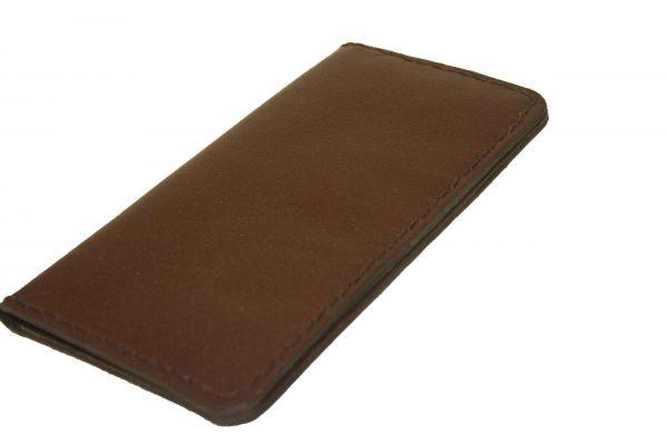 کیف پول دست دوز چرمی مردانه قهوه ای مدل P1-9603