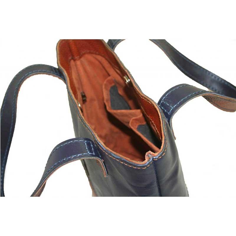 کیف دوشی چرمی دست دوز زنانه دو رنگ مدل D0-9601۱۸۵۴