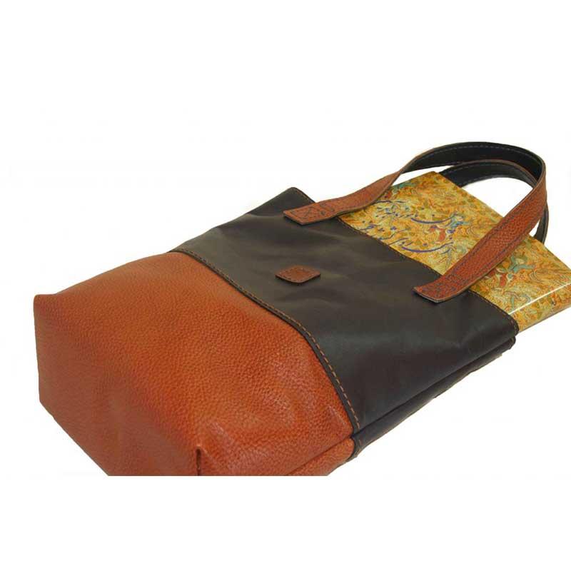 کیف دوشی چرمی دست دوز زنانه دو رنگ مدل D0-9601۱۸
