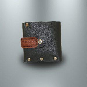 کیف پول چرمی دست دوز مردانه مشکی