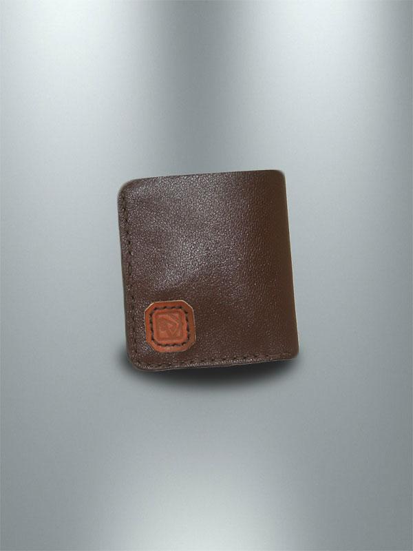 کیف پول جیبی چرمی دست دوز مردانه قهوه ای