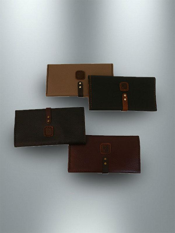کیف پول دست دوز چرمی زنانه مدل P0-9605