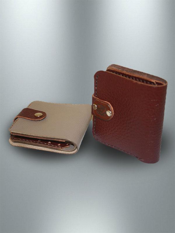 کیف پول دست دوز چرمی زنانه مدل P0-9606
