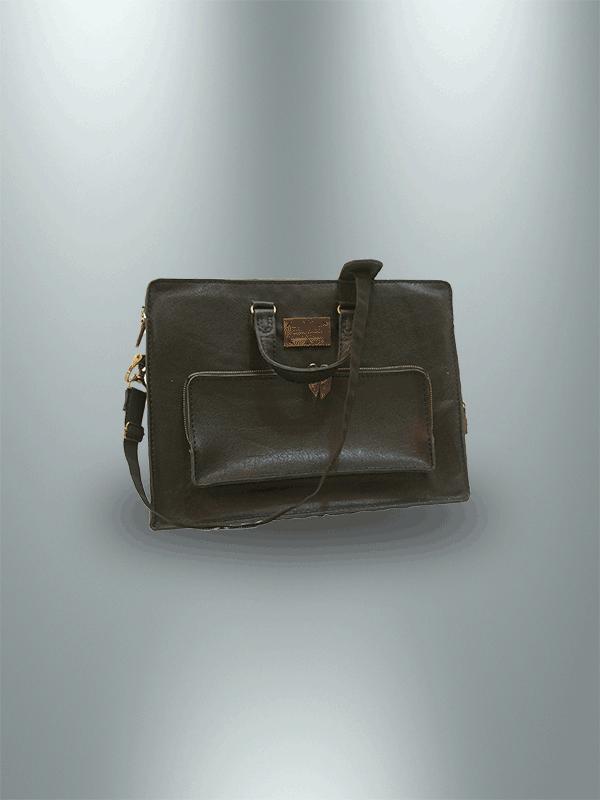 کیف دیپلمات دست دوز چرمی مدل DT1-9601 -a1
