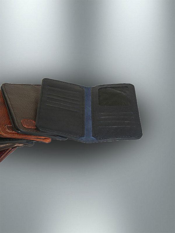کیف پول کتی دست دوز چرمی مدل P1-9609