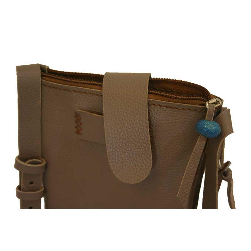 کیف دوشی چرمی دست دوز زنانه مدل D0-9605123