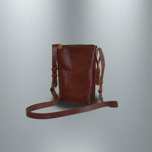 کیف دوشی چرمی دست دوز زنانه مدل D0-9606