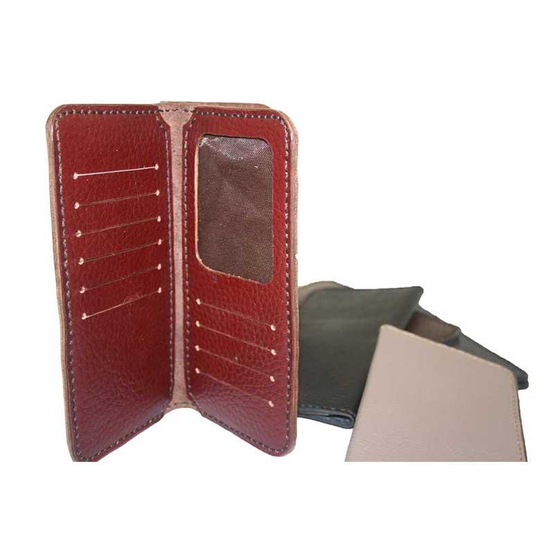 کیف پول کتی دست دوز چرمی مدل 5P1-96091246