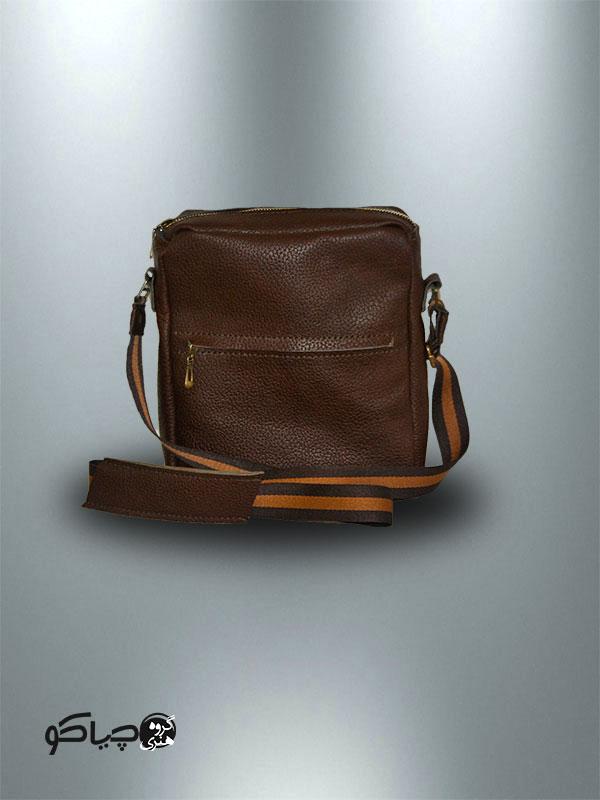 کیف دوشی دست دوز چرمی مدل D1-9701