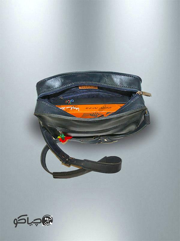 کیف دوشی دست دوز چرمی مدل D0-9703
