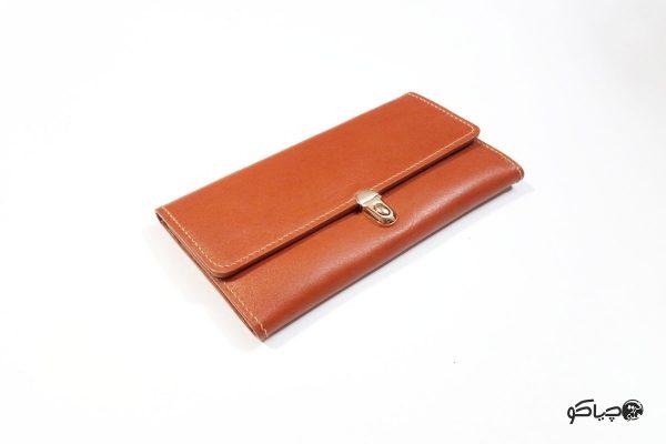کیف پول زنانه چرمی کد P0-9901
